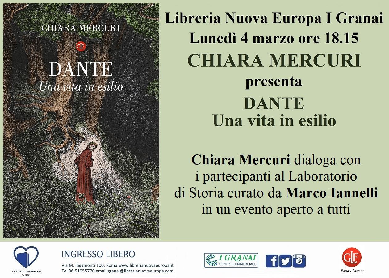 Dante, una vita in esilio. Incontro con Chiara Mercuri