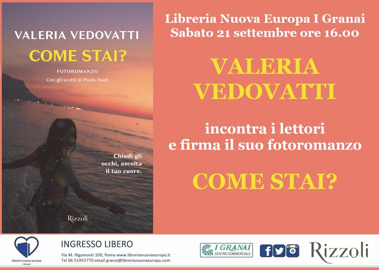 Valeria Vedovatti firma il suo fotoromanzo Come stai?